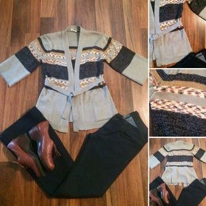 New Listing! Vintage 70s Spacedye Cardigan Sweater
